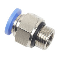 Push-in fitting / straight / pneumatic / seal