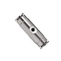 Socket fitting / straight / pneumatic / nickel-plated brass