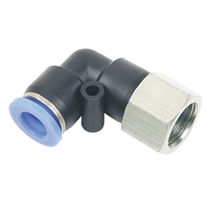 Screw-in fitting / elbow / pneumatic / plastic