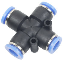 Threaded fitting / pneumatic / plastic