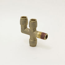 Push-to-lock fitting / cross / pneumatic / brass