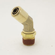 Push-in fitting / 45° angle / pneumatic / brass