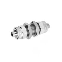 Threaded fitting / straight / pneumatic / nickel-plated brass