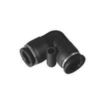 Push-in fitting / 90° angle / pneumatic / plastic