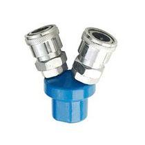 Screw-in fitting / Y / pneumatic / steel