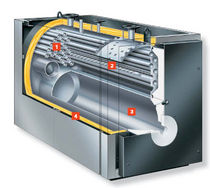 Hot water boiler / gas / fuel oil / three-pass