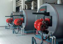 Hot water boiler / fire tube / horizontal
