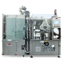 Automatic filler and sealer / rotary / for pipe ends / high-speed