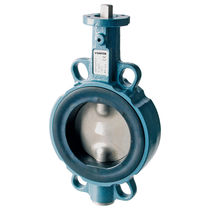 Butterfly valve / electrically-actuated / shut-off / for water