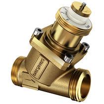Plug valve / flow-control / 2-channel / compact