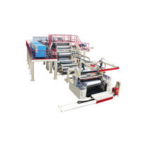 Flat-film extrusion line / for thermoplastics / for MDO stretch film