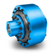 Rubber-tired coupling / for excavators / highly-elastic