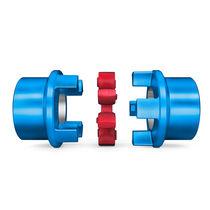 Elastic coupling / torsionally flexible / jaw