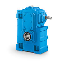 Orthogonal gear reducer / low-noise / for cranes