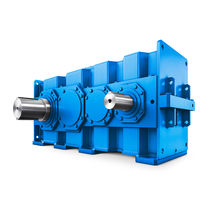 Helical gear reducer / parallel shaft / low-noise / for cranes