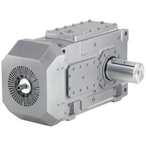 Worm gear gear reducer / orthogonal / low-noise / for pumps