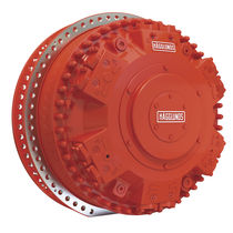 Radial piston hydraulic motor / with groove / with shaft couplings