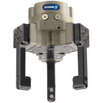Pneumatic gripper / concentric / 3-jaw / for handling systems