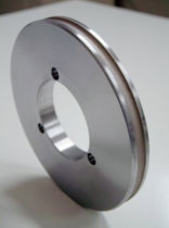 Peripheral grinding wheel / metal binder / abrasive / flat glass