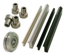 Guide roller / stainless steel / V-profile rail
