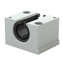 Self-aligning bearing unit / open / ball bushing / steel