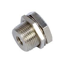 Screw-in fitting / straight / pneumatic / brass
