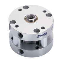 Pneumatic cylinder / piston / double-acting / flat