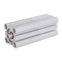 Pneumatic cylinder / piston / double-piston / double-acting