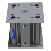 Pneumatic cylinder / single-acting / guide / lift table