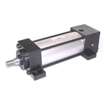 Pneumatic cylinder / double-acting / tie-rod / low-friction