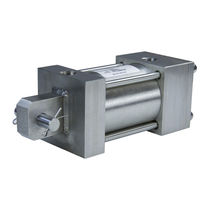 Pneumatic cylinder / hydraulic / double-acting / piston