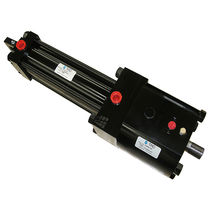 Pneumatic cylinder / rodless / double-acting
