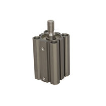Pneumatic cylinder / double-acting / piston / compact