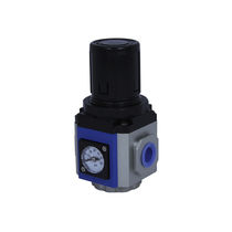 Air pressure regulator / single-stage / piston / for low flow rates