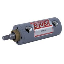 Pneumatic cylinder / double-acting / double-walled