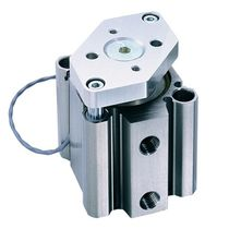 Pneumatic cylinder / double-acting / compact