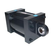 Hydraulic cylinder / double-acting / for heavy loads / stainless steel