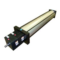 Pneumatic cylinder / double-acting / rod lock