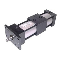 Pneumatic cylinder / double-acting / tie-rod / three-position