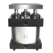 Pneumatic cylinder / double-acting / tie-rod / handling