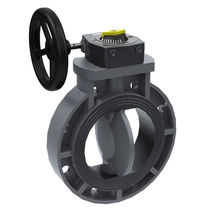 Butterfly valve / with handwheel / shut-off / for chemicals