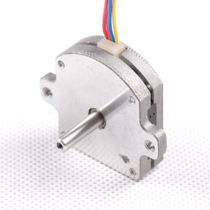 DC motor / stepper / 28V / pancake type