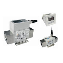 Thermal flow switch / for air / with indicator / digital