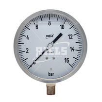Analog pressure gauge / Bourdon tube / for gas / for vacuum