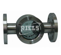 Stainless steel sight glass / level indicator / flange