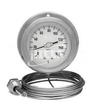 Gas expansion with capillary thermometer / gas / flange / stainless steel