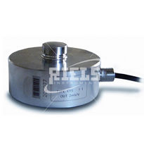 Compression load cell / button type / stainless steel / strain gauge