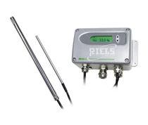 Relative humidity and temperature sensor / wall-mount / digital