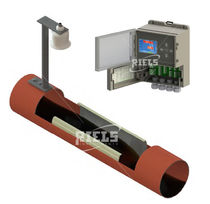 Ultrasonic flow meter / for liquids / open-channel / direct mounting