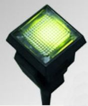 Steady indicator light / LED / panel-mount / rectangular